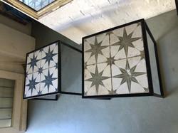 Jo Jo Tiled side tables or pedestals