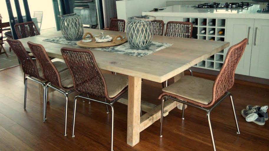 Janet Hermanus pine table.