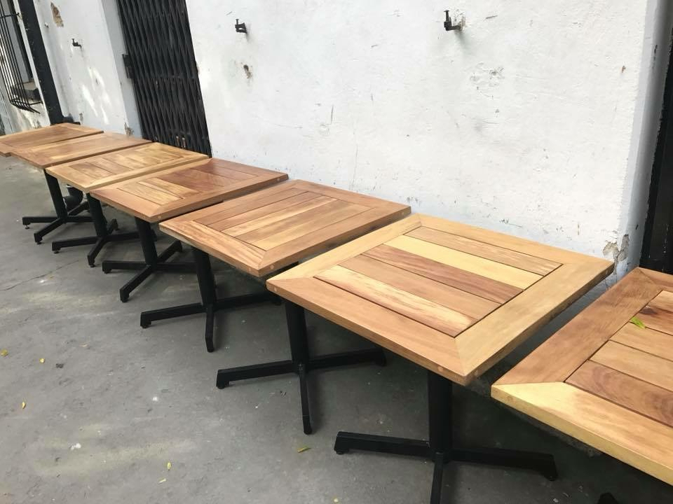 Cafe tables.