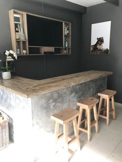 Home bar with plasma frame