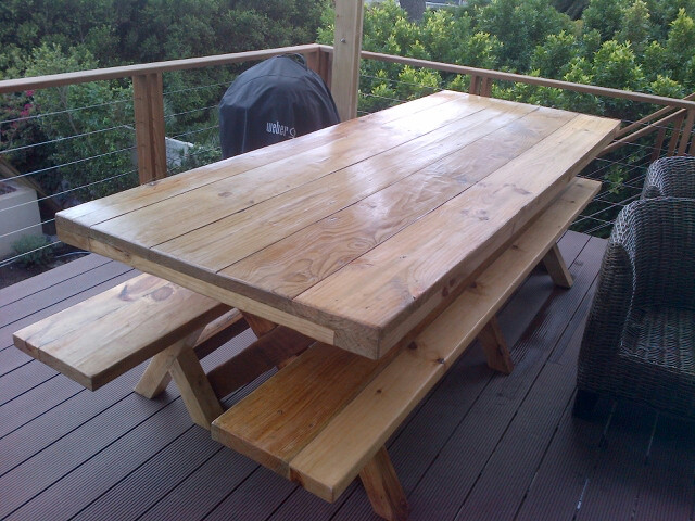 Industrial outdoor table