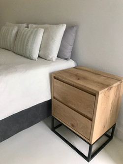 Oak bedside tables