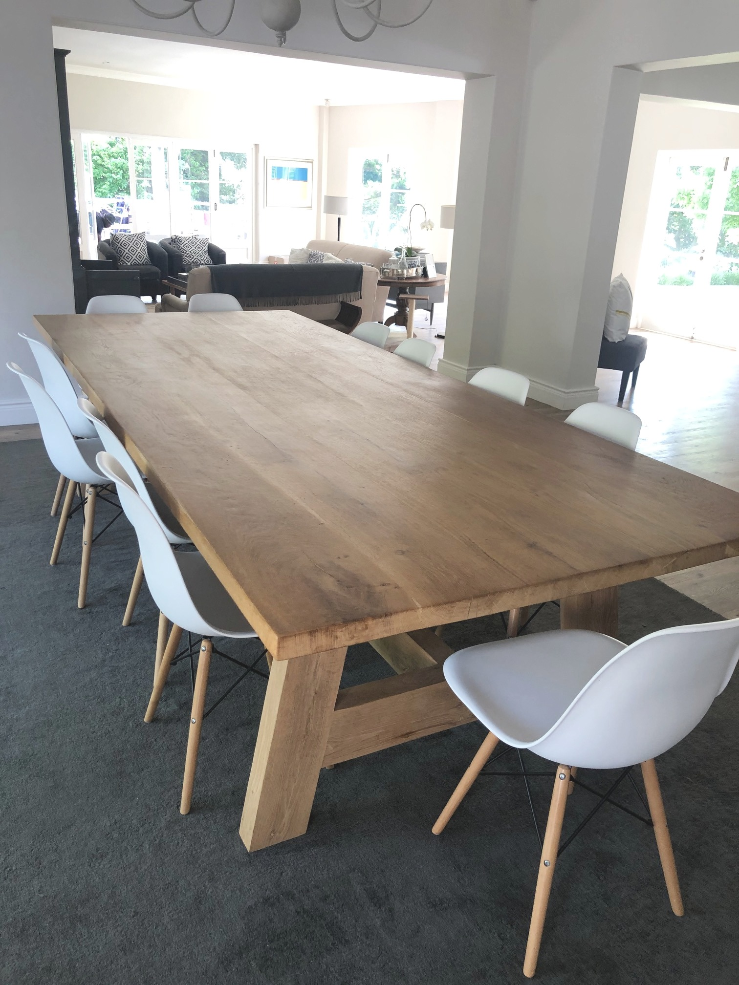 French KWV oak dining room