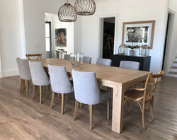 The Tracy dining table in French Oak