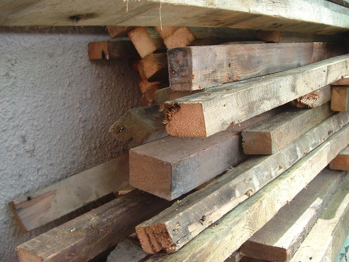 Recycled wood selection