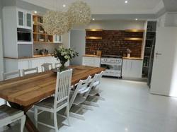 White Kitchen table.