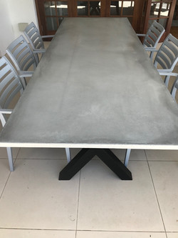 2.5m cement table and steel.