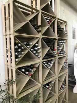 modular wine cellar in grey wash. 12