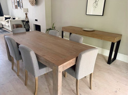 Recycled dining table and server