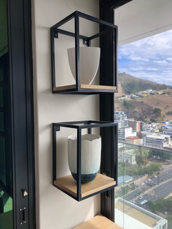 Steel and wood planters