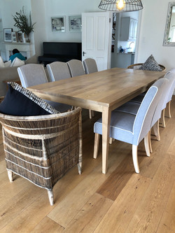 Ash 10 seater dining room table