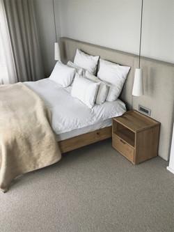 Oak bedside tables or pedestals