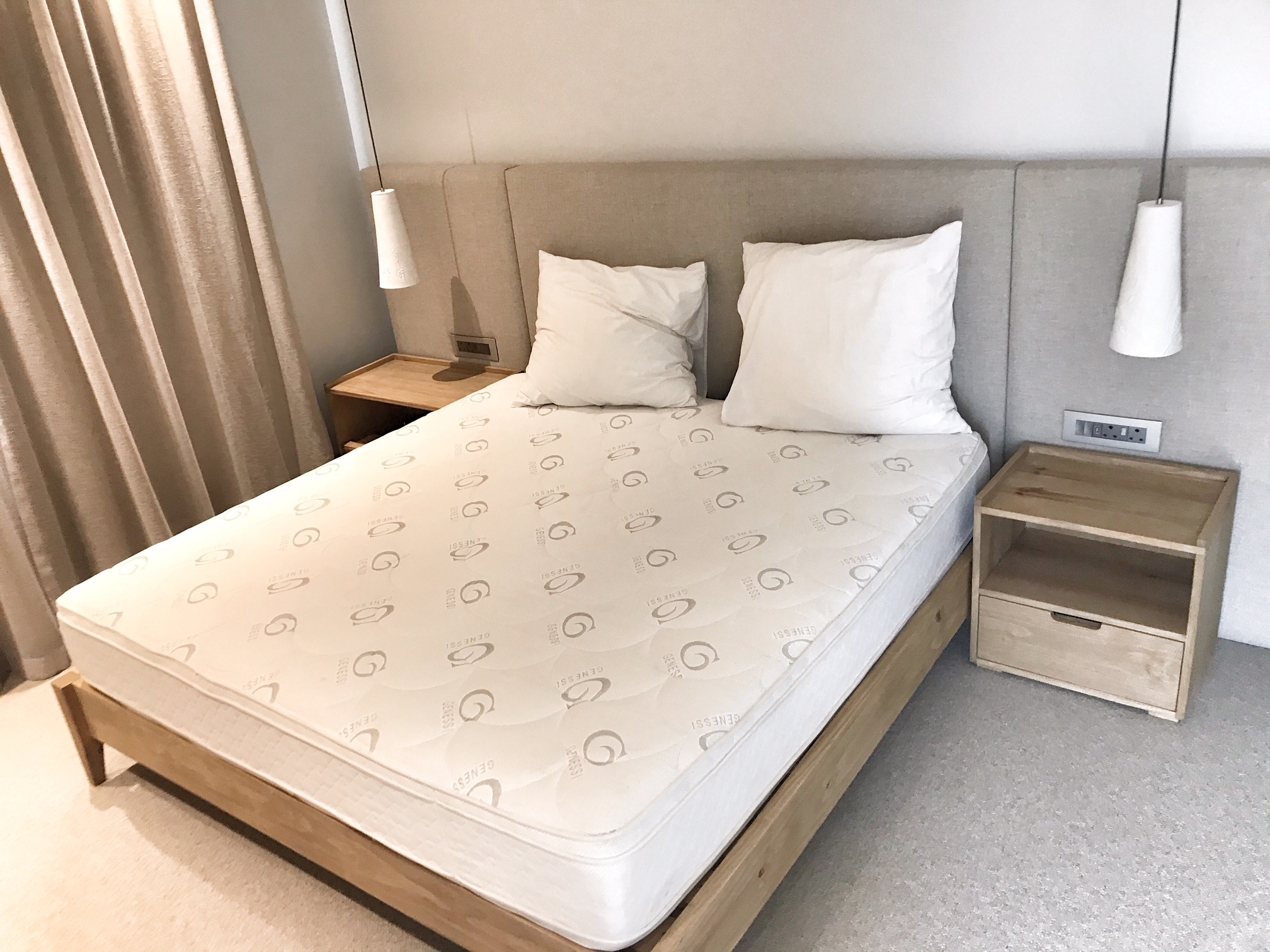 King size bed with bedside tables