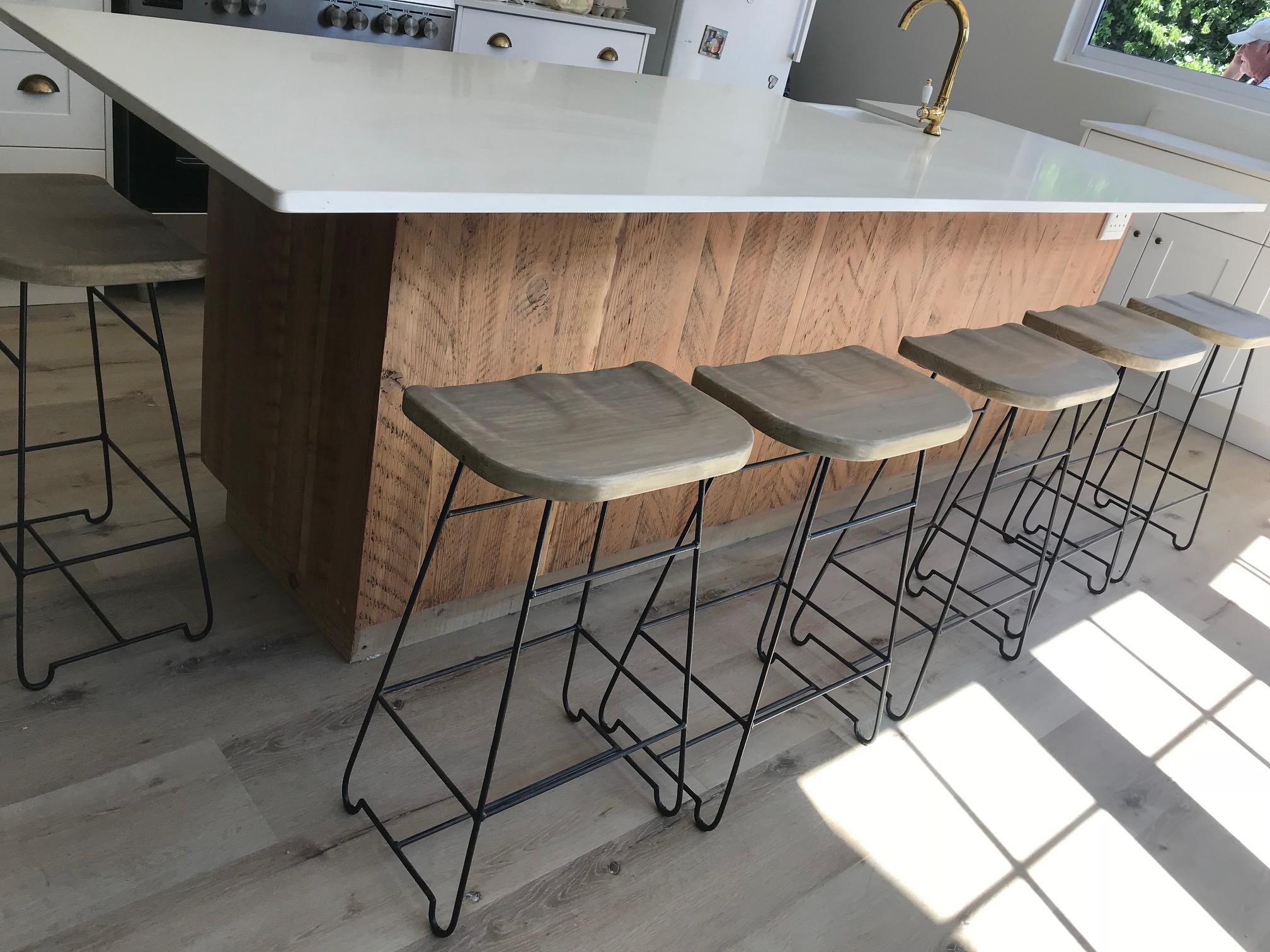 Steel bar stools