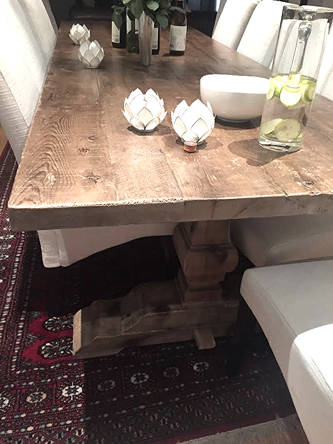 Trish's industrial pine table