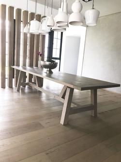 12 seater oak table