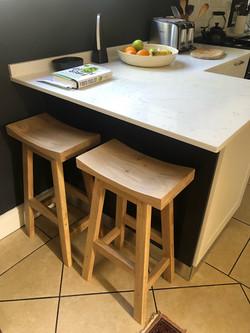 Oak kitchen island stools