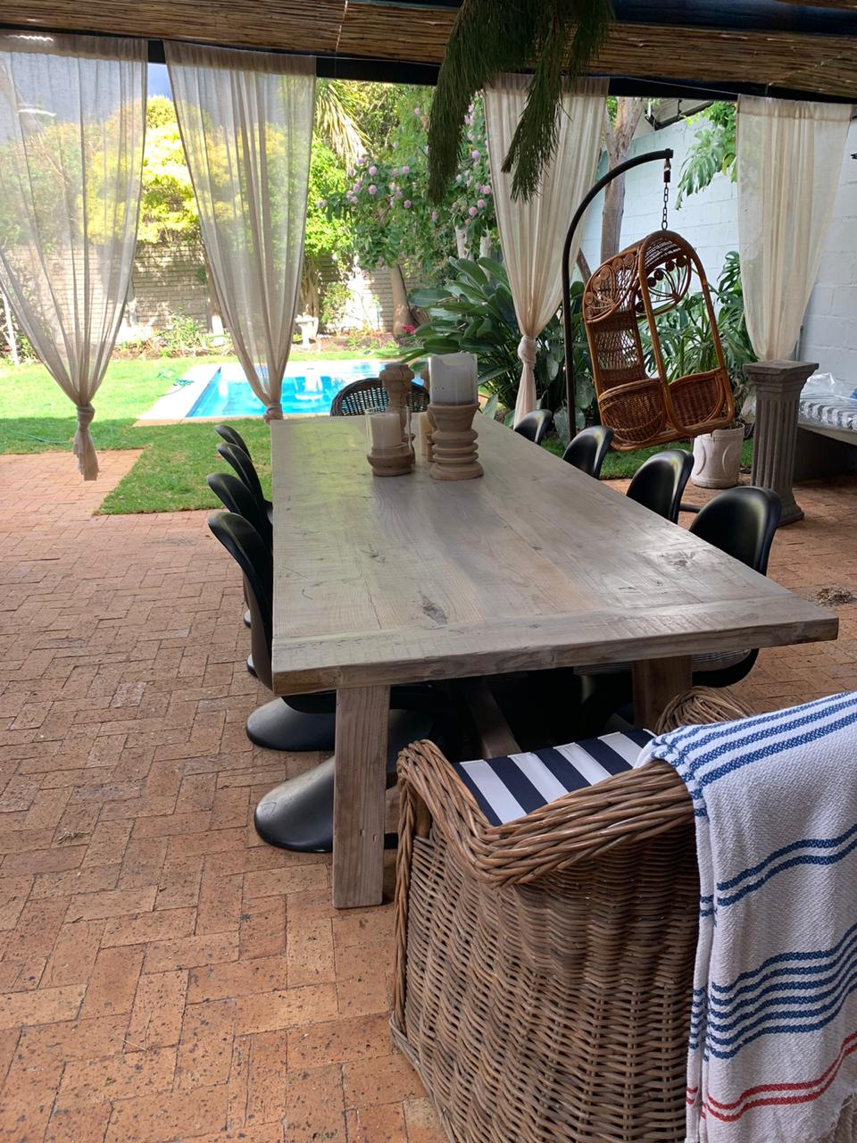 3x 1.1m rustic recycled table.