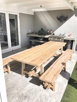 KWV oak dining room table