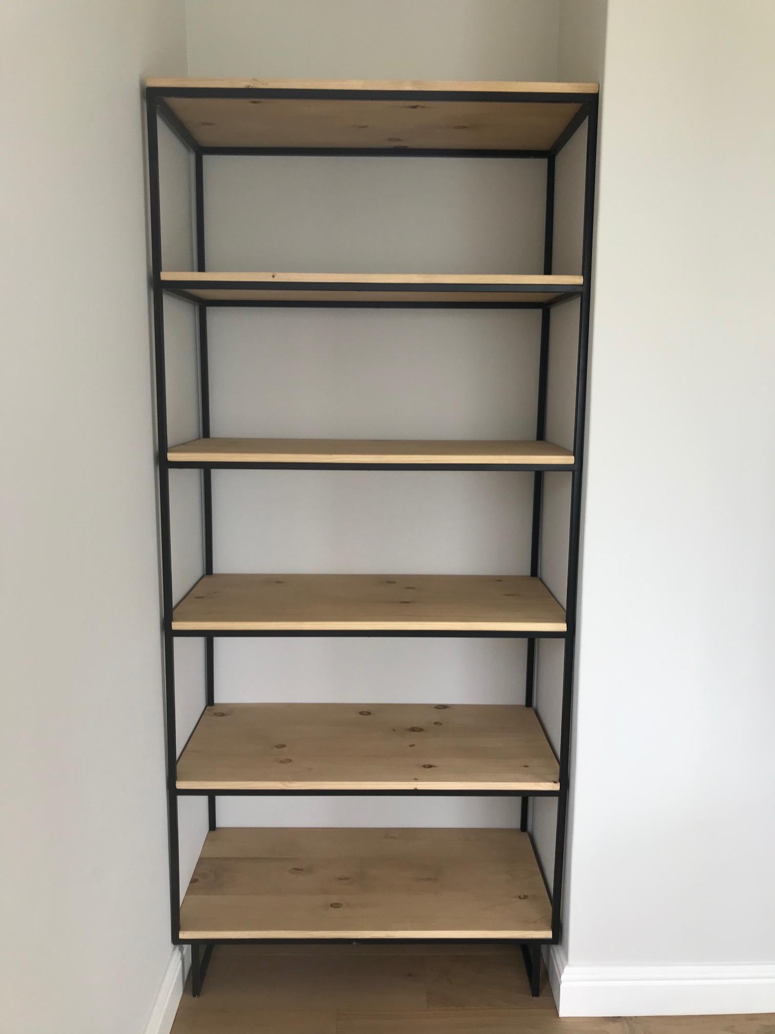 Vertical steel bookcase