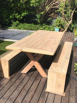 Recycled scaffold table