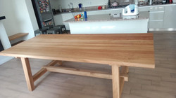 French oak dining room table