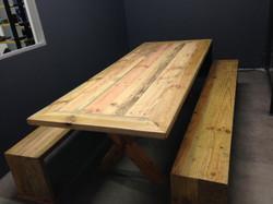 Brandvan 2.4m office table