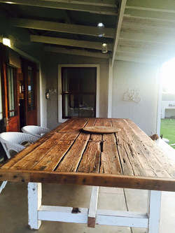 Outdoor recycled table