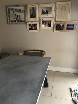 Cement diningroom table