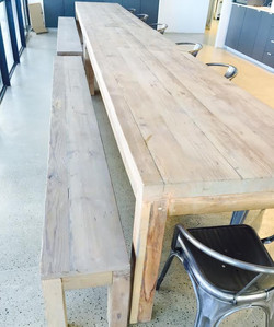 The Edge canteen tables.