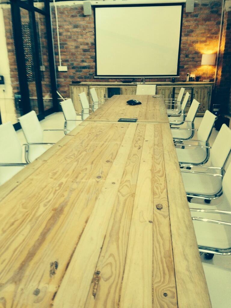 Boardroom tables on castors