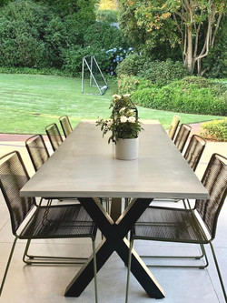 Outdoor cement table