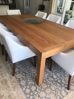 Recycled dining room table