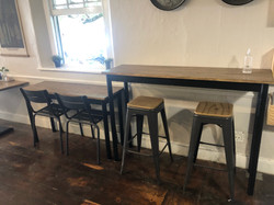 Restaurant furniture in wood and steel