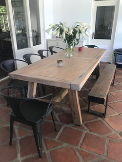 Recycled rustic oregon table