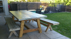 Top Deck table and benches.