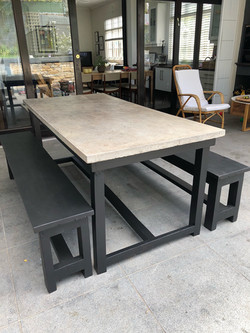 cement table top