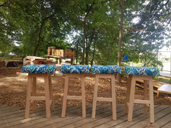 Island stools with cushions