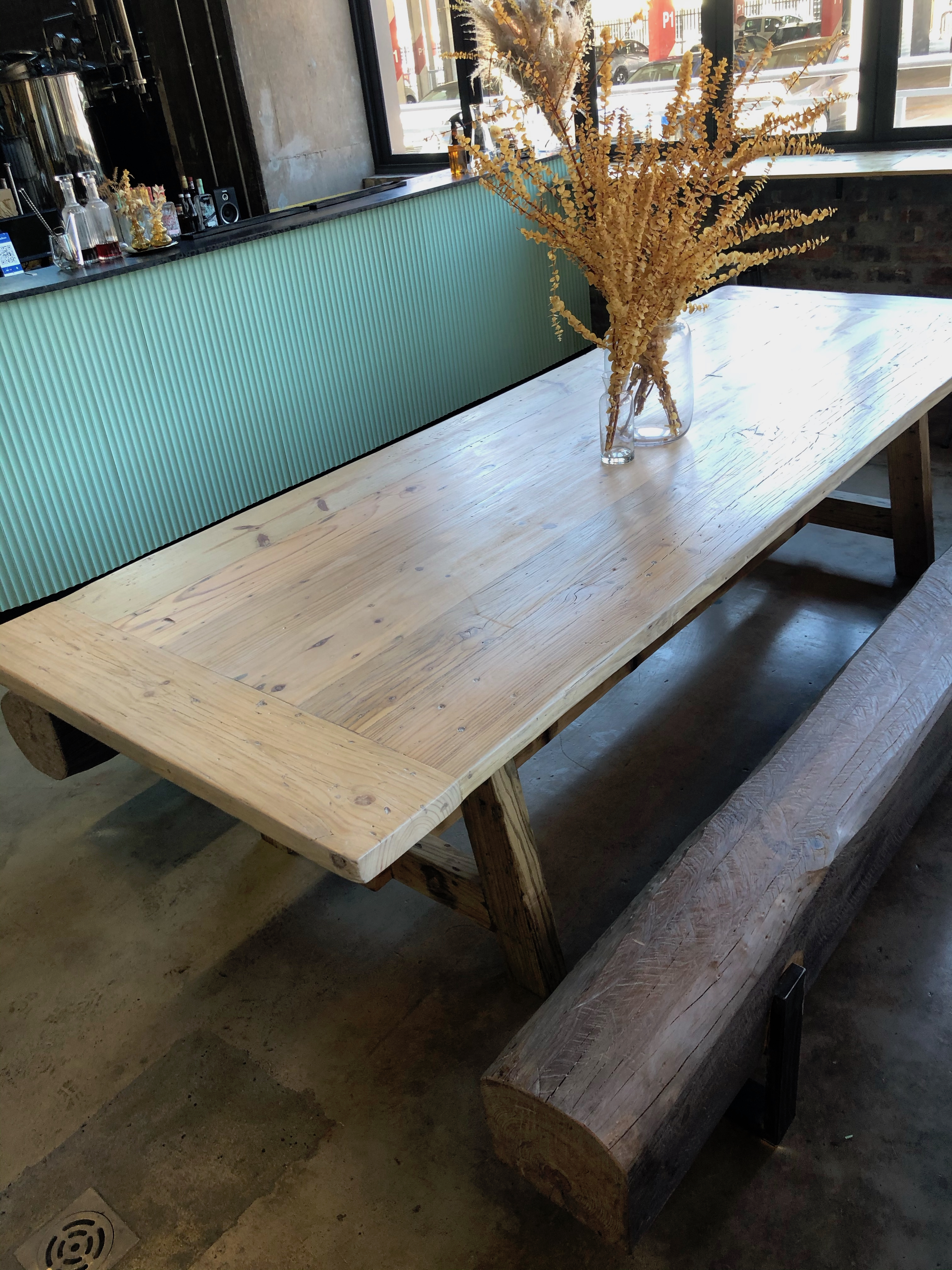 Recycled 12 seater table