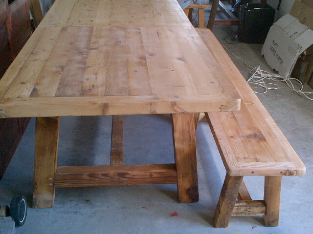 My very first table built and sold from my garage