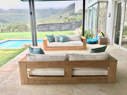 Custom made outdoor couches