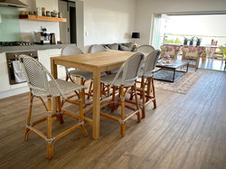 Oak kitchen bistro table
