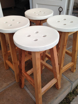 Button head stools