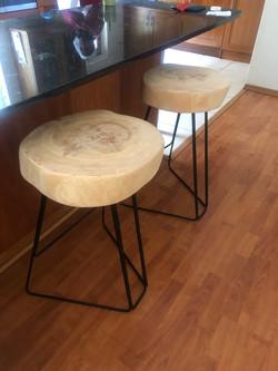 Live edge stools