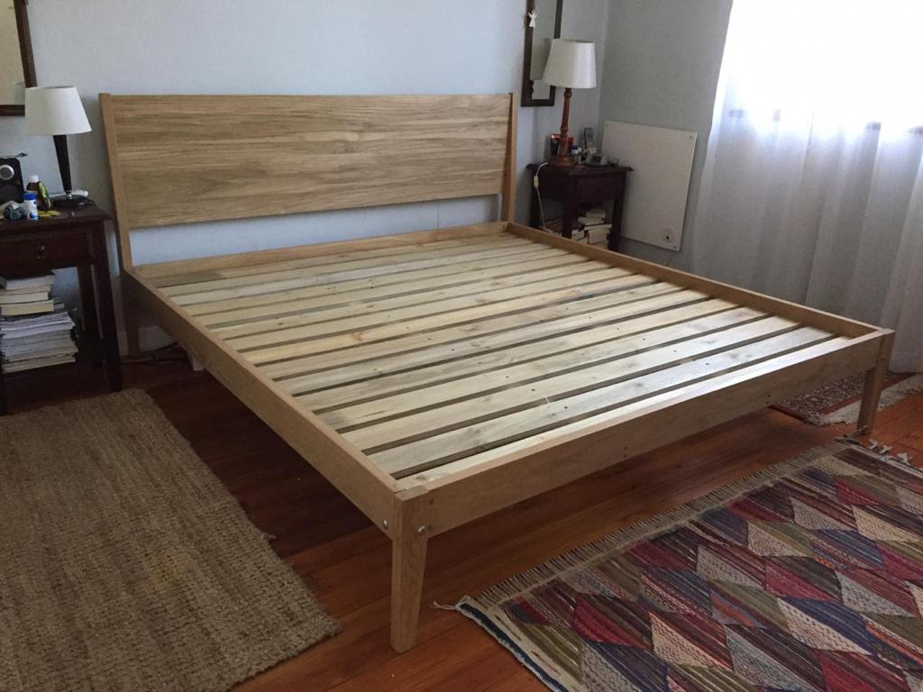 Oak king bed