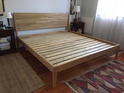 Oak king bed