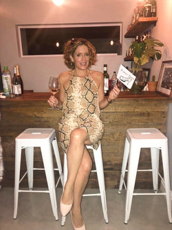 Proud bar lady Shelley