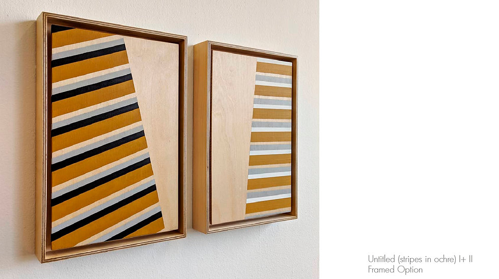 Untitled (stripes in ochre) I & II