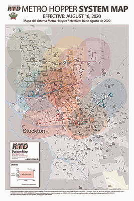 Mapa del sistema RTD Metro Hopper