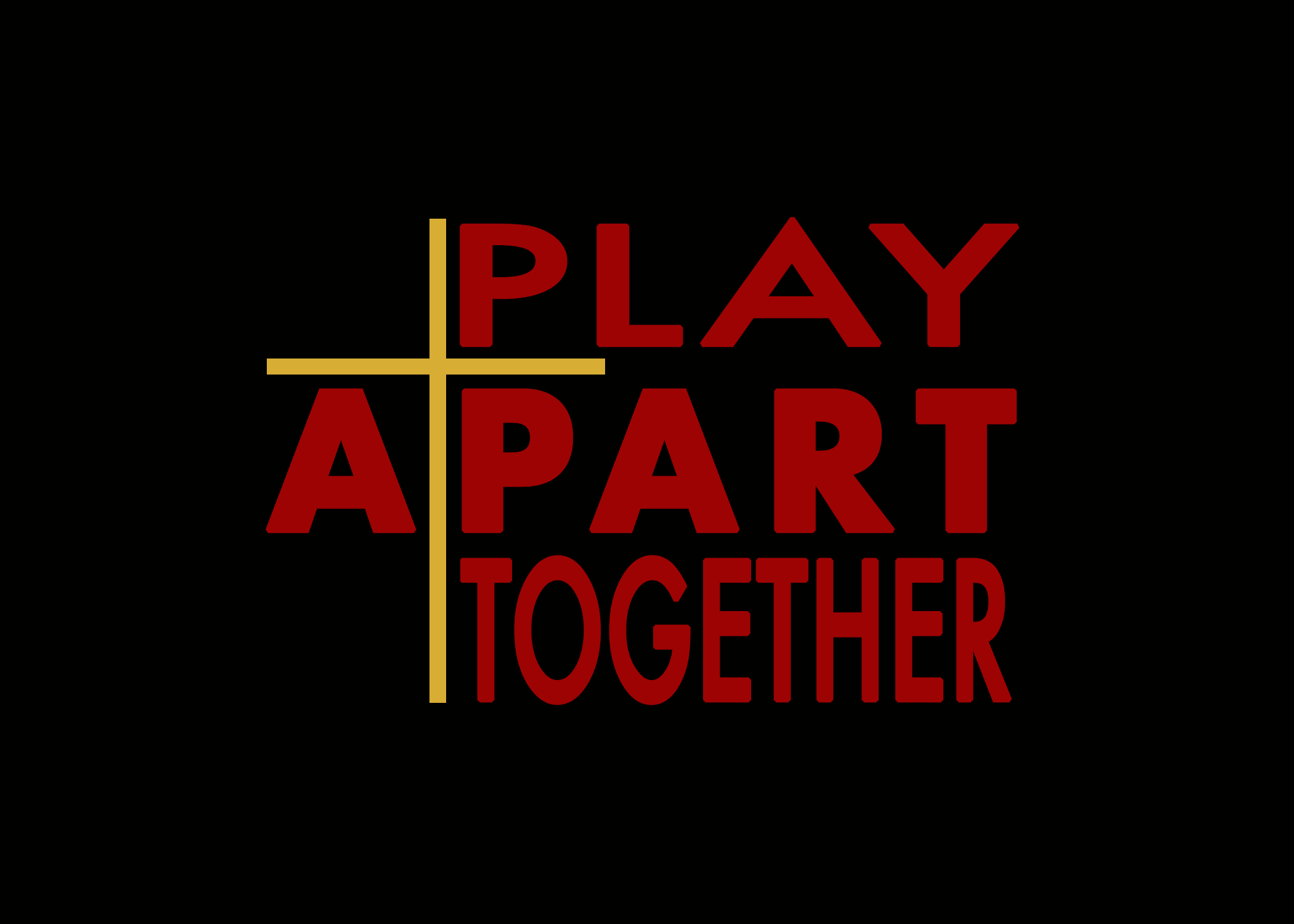 PLAY APART TOGETHER - Logo (Color on Bla